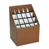 Safco Corrugated Roll Files, 20 Compartments, 15w x 12d x 22h, Woodgrain (SAF3081)