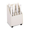 Safco Laminate Mobile Roll Files, 20 Compartments, 15-1/4w x 13-1/8d x 23-1/4h, Putty (SAF3082)