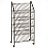 Safco Mobile Literature Rack, 32-1/2w x 15-1/4d x 63-1/2, Charcoal (SAF4129CH)