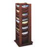 Safco Rotary Display, 48 Compartments, 17-3/4w x 17-3/4d x 49-1/2h, Mahogany (SAF4335MH)