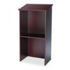 Safco Stand-Up Lectern, 23w x 15-3/4d x 46h, Mahogany (SAF8915MH)