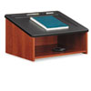 Safco Tabletop Lectern, 24w x 18-1/2d x 13-3/4h, Cherry/Black (SAF8916CY)