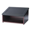 Safco Tabletop Lectern, 24w x 18-1/2d x 13-3/4h, Mahogany/Black (SAF8916MH)