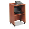 Safco Lectern Base/Media Cart, 21-1/4w x 17-1/2d x 33-3/4h, Cherry (SAF8917CY)