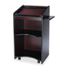 Safco Executive Mobile Lectern, 25-1/4w x 19-3/4d x 46h, Mahogany (SAF8918MH)