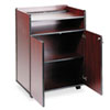 Safco Executive Mobile Presentation Stand, 29-1/2w x 20-1/2d x 40-3/4h, Mahogany (SAF8919MH)