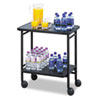Safco Folding Office/Beverage Cart, 2-Shelf, 25 x 15 x 30, Black (SAF8965BL)