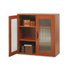 Safco Après Two-Door Cabinet, 29-3/4w x 11-3/4d x 29-3/4h, Cherry (SAF9442CY)