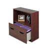 Safco Après File Drawer Cabinet With Shelf, 30w x 12d x 30h, Mahogany (SAF9445MH)