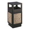 Safco Canmeleon Side-Open Receptacle, Square, Aggregate/Polyethylene, 38 gal, Black (SAF9472NC)