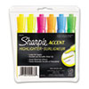 Sharpie Accent Tank Style Highlighter, Chisel Tip, Assorted Colors, 6/Set (SAN25076)