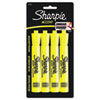 Sharpie Accent Tank Style Highlighter, Chisel Tip, Fluorescent Yellow, 4/Set (SAN25164PP)