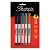Sharpie Permanent Markers, Ultra Fine Point, Assorted Colors, 5/Set (SAN37675PP)