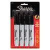 Sharpie Permanent Markers, 5.3mm Chisel Tip, Black, 4/Pack (SAN38264PP)