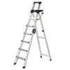 Cosco Eight-Foot Lightweight Aluminum Folding Step Ladder w/Leg Lock & Handle, 300lb (CSC2081AABLD)