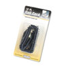 Softalk Coiled Phone Cord, Plug/Plug, 12 ft., Black (SOF48102)