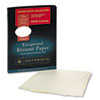 Southworth 100% Cotton Resume Paper, 32 lbs., 8-1/2 x 11, Ivory, Wove, 100/Box (SOURD18ICF)