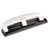 Paperpro 12-Sheet Capacity Three-Hole Punch, Rubber Base, Gray (ACI2101)