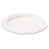 Naturehouse Bagasse 6 Plate, Round, White, 125/Pack (SVAP001)
