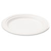Naturehouse Bagasse 7 Plate, Round, White, 125/Pack (SVAP002)