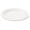 Naturehouse Bagasse 10 Plate, Round, White, 125/Pack (SVAP005)
