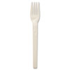 Naturehouse Compostable Cutlery, Plant Starch/Oil Fork, 6 Length, 100/Pack, White (SVARP05)