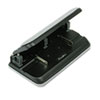 Swingline 32-Sheet Easy Touch Three- to Seven-Hole Punch, 9/32 Holes, Black/Gray (SWI74300)