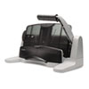 Swingline 40-Sheet Light Touch Two- to Seven-Hole Punch, 9/32 Holes, Black/Gray (SWI74357)