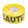 Tatco Caution Barricade Safety Tape, Yellow, 3w x 1,000 ft. Roll (TCO10700)