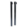 Tatco Adjusta-Tape Crowd Control Posts, Steel, 40 High, Black, 2/Box (TCO11611)