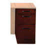 Mayline Sorrento Series Veneer Pencil/Box/File Pedestal For Desk Top, Bourbon Cherry (MLNSDPBFSCR)