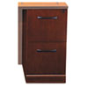 Mayline Sorrento Series File/File Pedestal for Return Top, Bourbon Cherry (MLNSRFFSCR)