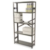 Tennsco Commercial Steel Shelving, 5 Shelves, 36w x 12d x 75h, Medium Gray (TNNESP1236MGY)