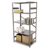 Tennsco Commercial Steel Shelving, 5 Shelves, 36w x 24d x 75h, Medium Gray (TNNESP2436MGY)