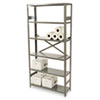 Tennsco Commercial Steel Shelving, 6 Shelves, 36w x 12d x 75h, Medium Gray (TNNESP61236MGY)