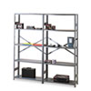 Tennsco Commercial Steel Shelving, 6 Shelves, 36w x 18d x 75h, Medium Gray (TNNESP61836MGY)