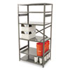Tennsco Commercial Steel Shelving, 6 Shelves, 36w x 24d x 75h, Medium Gray (TNNESP62436MGY)