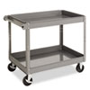 Tennsco Two-Shelf Metal Cart, 2-Shelf, 24w x 36d x 32h, Gray (TNNSC2436)