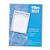 Tops Things To Do Today Daily Agenda Pad, 8 1/2 x 11, 100 Forms (TOP2170)