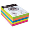 Tops Assorted Fluorescent Color Memo Sheets, 4 x 6, 500 Loose Sheets/Pack (TOP99622)