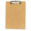 Universal Clipboard, 1/2 Capacity, Holds 8-1/2w x 12h, Brown, 6/Pack (UNV05562)