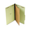 Universal Pressboard Classification Folder, Legal, Four-Section, Green, 10/Box (UNV10261)
