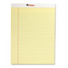 Universal Perforated Edge Writing Pad, Legal/Margin Rule, Letter, Canary, 50-Sheet, Dozen (UNV10630)