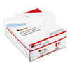 Universal Security Tinted Window Business Envelope, V-Flap, #10, White, 500/Box (UNV35203)