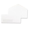 Universal Window Business Envelope, V-Flap, #10, White, 500/Box (UNV35211)