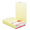 Universal Perforated Edge Writing Pad, Legal/Margin Rule, Legal, Canary, 50-Sheet, Dozen (UNV40000)