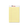 Universal Perforated Edge Writing Pad, Jr. Legal Rule, 5 x 8, Canary, 50-Sheet, Dozen (UNV46200)