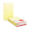 Universal Glue Top Writing Pads, Wide Rule, Legal, Canary, 50-Sheet Pads/Pack, Dozen (UNV50000)